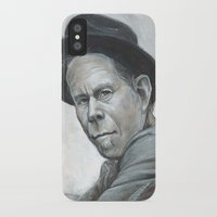 tom waits iPhone & iPod Cases featuring Tom Waits by Lars-Erik Robinson