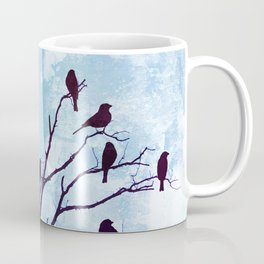 Blackbirds Tree Modern Cottage Chic Farmhouse Home Decor A503b Coffee Mug