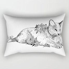 Cat and acacias Rectangular Pillow