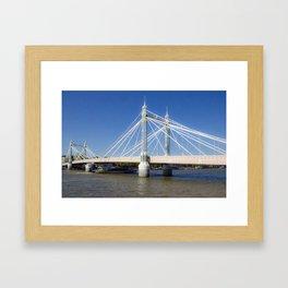 Albert Bridge on the Thames in London (3) Framed Art Print