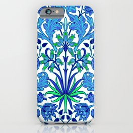 William Morris Hyacinth Print, Cobalt and Navy Blue iPhone Case