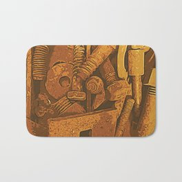 Rusty Street Metal Bath Mat