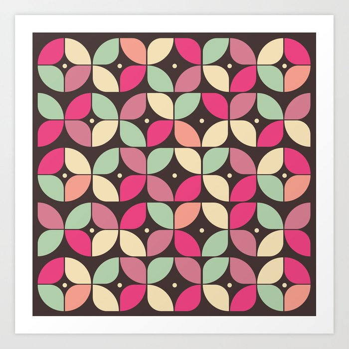 Funky Flower Garden Pattern Art Print by vessdsign | Society6