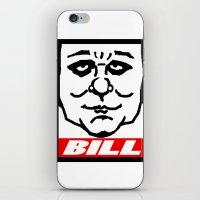 bill iPhone & iPod Skins featuring BILL by KINGOFTHERATS