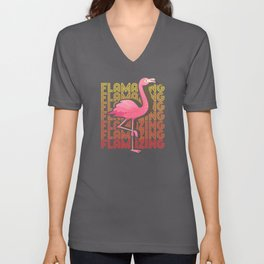Flamingo Great Unisex V-Neck