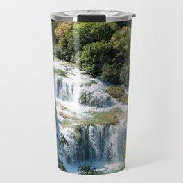 Waterfall in Krka National Park - Croatia Travel Mug