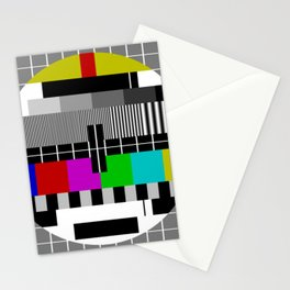 Vintage Television Test Pattern Stationery Cards