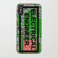 engineer iPhone & iPod Cases featuring Electrical Engineer by EEShirts