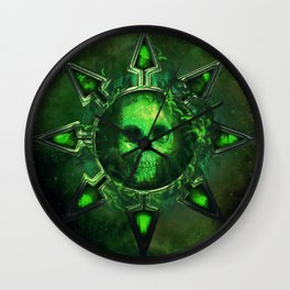 Chaos Icon - Nurgle Wall Clock