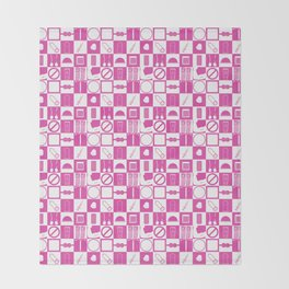 Contraception Pattern (Pink) Throw Blanket