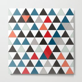 Pattern triangle color Metal Print