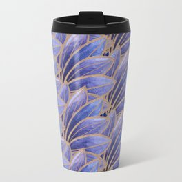 Art nouveau leaf pattern ultraviolet Travel Mug