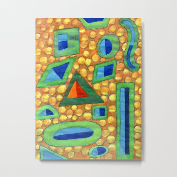 Collection of different Shapes with Double Fillings Metal Print