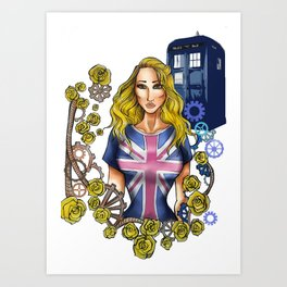 Roses Collection - rose tyler Art Print