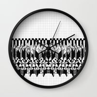 notebook Wall Clocks featuring School notebook  by Eva Bellanger