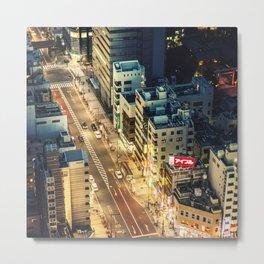 tokyo aerial street view Metal Print