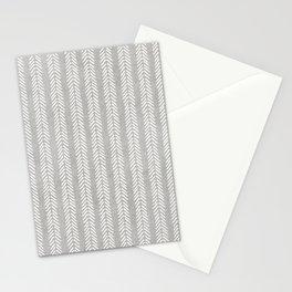 Mud cloth - Grey Arrowheads Stationery Cards