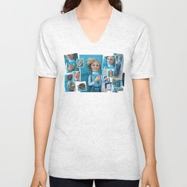 Jerri Blank, Strangers With Candy Doll, Collage Unisex V-Neck