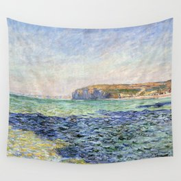 1882-Claude Monet-Shadows on the Sea. The Cliffs at Pourville-57 x 80 Wall Tapestry
