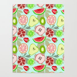 cut fruit Poster