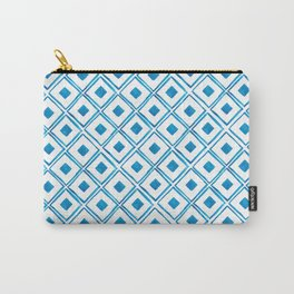 Blue Hand-painted Watercolor Pattern Carry-All Pouch