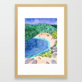 French Paradise Framed Art Print