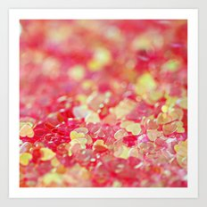 Pink and Red Hearts - an abstract photograph Art Print