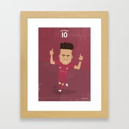 The Tens | Philippe Coutinho - Liverpool FC Framed Art Print