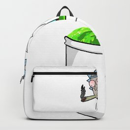 Rick smoking a joint Backpack