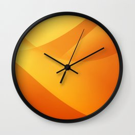 Orange Wallpaper Wall Clock