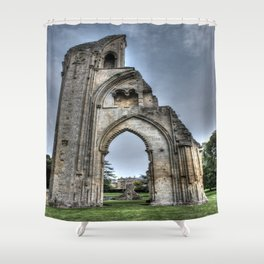 The Past Remains HDR Shower Curtain