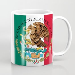 Flag of Mexico & Coat of Arms augmented scale Coffee Mug
