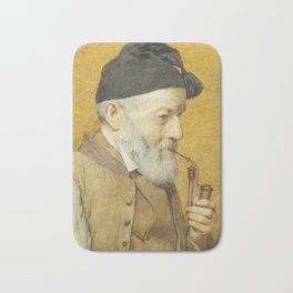 ANKER, ALBERT (1831 Ins 1910) Old farmer with whistle. 1910t Bath Mat