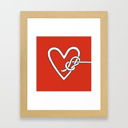 love me knot Framed Art Print