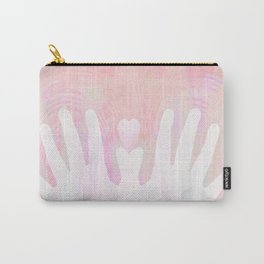 Healing Hands Pink Carry-All Pouch