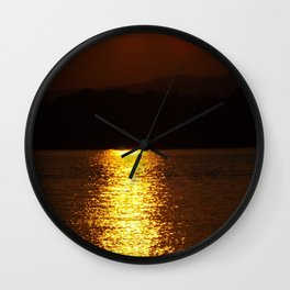 sundown at Rhine Wall Clock
