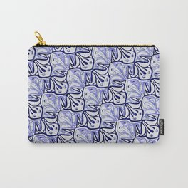 Symmetric Frog Tessellation in Blue Carry-All Pouch