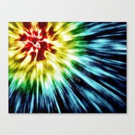 Abstract Dark Tie Dye Canvas Print