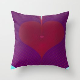 I Heart Lines Throw Pillow