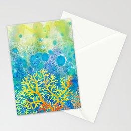 Underwater corals Stationery Cards