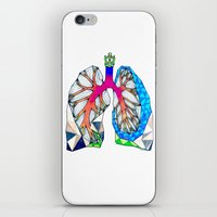 lungs iPhone & iPod Skins featuring Lungs by Heidi Failmezger