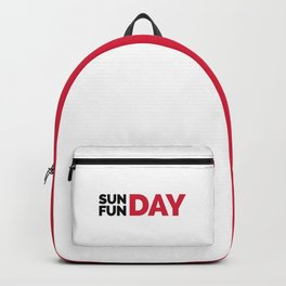 Sunday Funday Funny Quote Backpack
