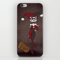 harley iPhone & iPod Skins featuring Harley by The Batty Bird