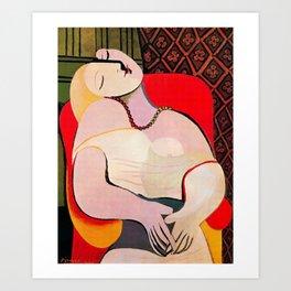 Pablo Picasso A Dream 1932 (Le Reve) Artwork T Shirt Art Print