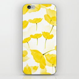 Light Yellow Poppies Spring Summer Mood #decor #society6 #buyart iPhone Skin