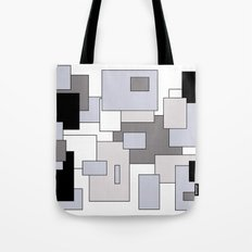 Squares - gray, black and white. Tote Bag