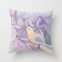 Affable Bird Throw Pillow