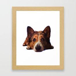 Puppy Eyes Framed Art Print