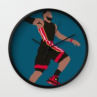 lebron Wall Clocks featuring Lebron by rusto