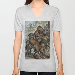 Macaques for Responsible Travel Unisex V-Neck